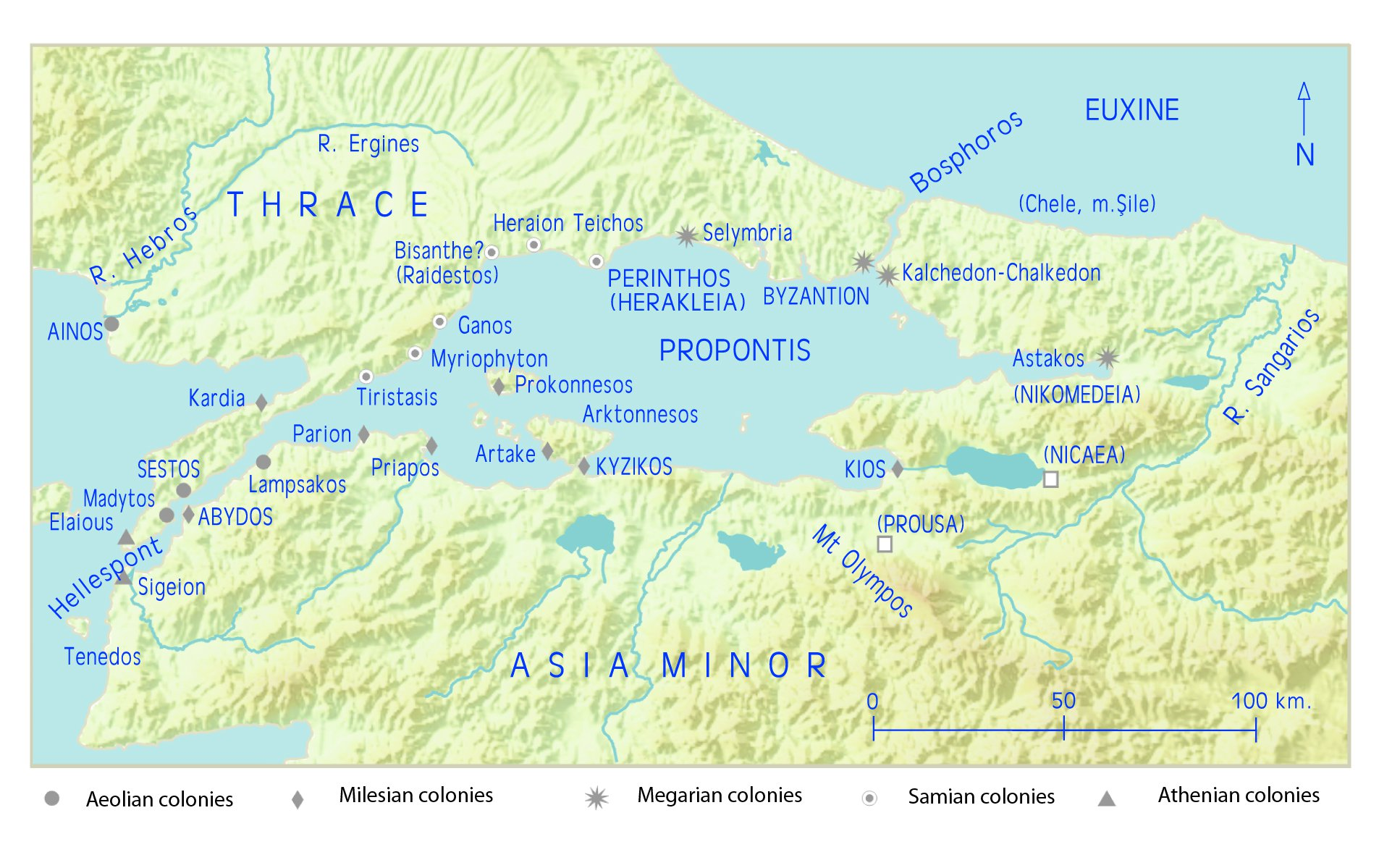 Sea Of Marmara Ancient Greece Map.The History Of Ancient Greece Podcast July 2016
